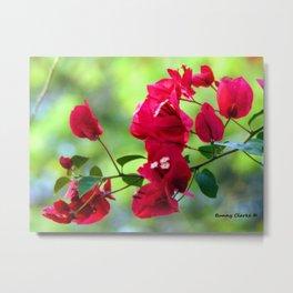Ruby Blooms Metal Print
