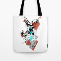 paramore Tote Bags featuring Wounds Will Heal by DrøpDeadRian