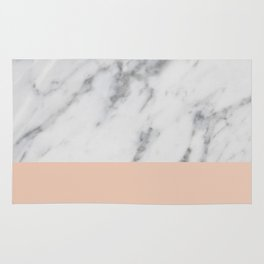 Marble and Blush Pink Rug