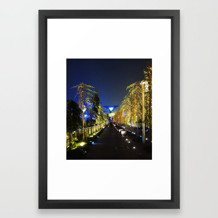Trees and Super Tree Framed Art Print