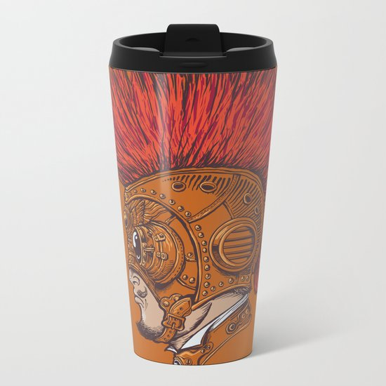 Steampunk-Punk Metal Travel Mug