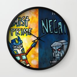 Optimist Prime - Negatron Wall Clock