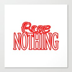 Rue Nothing Red Logo Canvas Print