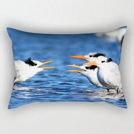 Watercolor Bird, Royal Tern 05, Janes Island, Maryland Rectangular Pillow