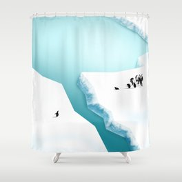 Break in the Ice Shower Curtain