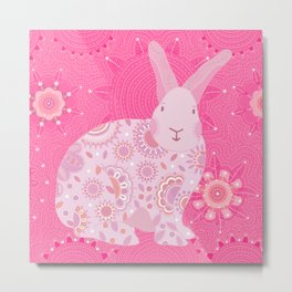 Pinky Touchy Bunny Metal Print