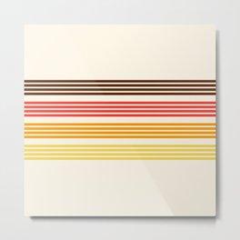 Hidenaga - Classic Retro Stripes Metal Print