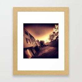 lower haight Framed Art Print