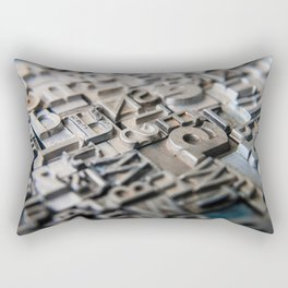 Old Metal Letters Rectangular Pillow