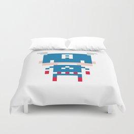 Pixel Captain America Duvet Cover