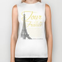 tour de france Biker Tanks featuring Tour De France Eiffel Tower by Wyatt Design