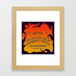 Scary Ouija Board Framed Art Print