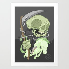 The Four Horsemen of the Apocalypse (Green) Art Print