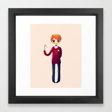 Little Ron Framed Art Print