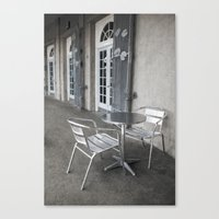 cafe Canvas Prints featuring Cafe by David Turner