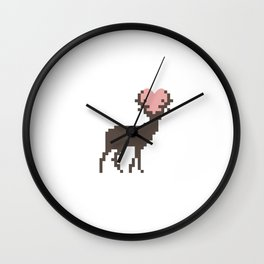 Love Deer Wall Clock