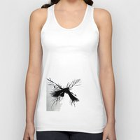 crow Tank Tops featuring Crow by anipani
