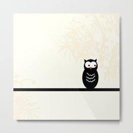 Owl Love You Always Black Owl Print Metal Print