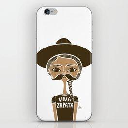 Viva Zapata - White iPhone Skin