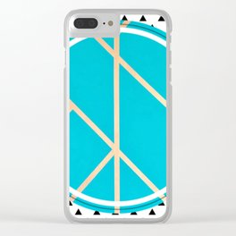 Leaf - small triangle graphic Clear iPhone Case
