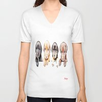 puppies V-neck T-shirts featuring cachorros ( puppies  ) by arnedayan