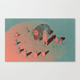 The Bison #2 Canvas Print