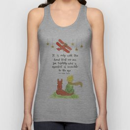 The Little Prince Quote art Unisex Tank Top