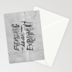 EVERYTHING IS AN EXPERIMENT Stationery Cards