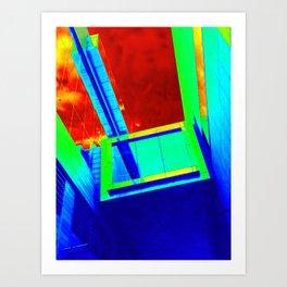 VIVID BUILDINGS Art Print