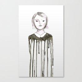 Dripping girl Canvas Print