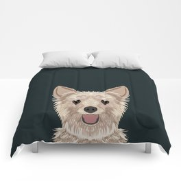 Tanner - Yorkshire Terrier gifts and gifts for dog person and dog people gift ideas Comforters