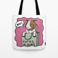 totes Tote Bags featuring Totes McGoats by This is 65