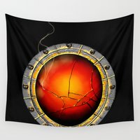 bioshock Wall Tapestries featuring Songbird's Eye by Kidney Theft