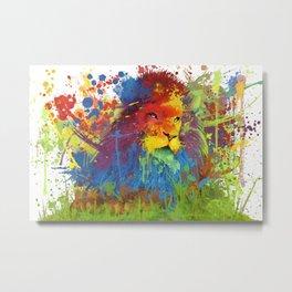 Lion's True Color Metal Print
