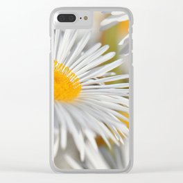 Marquerite white yelow 02 Clear iPhone Case