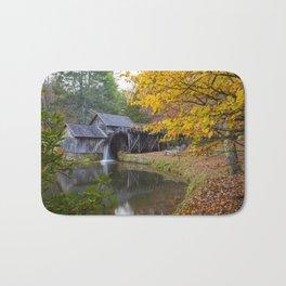 Rustic Mill in Autumn Bath Mat