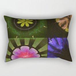 Brinish Symmetry Flowers  ID:16165-053020-45980 Rectangular Pillow