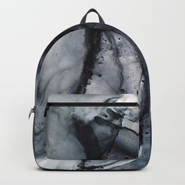 Smoke Diptych II - Alcohol Ink Painting Backpack