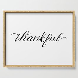 Thankful Calligraphy Serving Tray