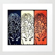 Face your brain Art Print
