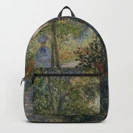"Claude Monet ""Camille Monet in the Garden at Argenteuil"" Backpack"