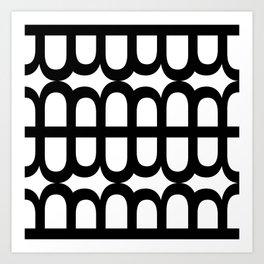 B Pattern Art Print