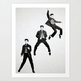 Elvis Presley Promotional photos for Jailhouse Rock, 1957 Art Print