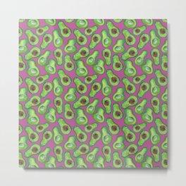 avocados in purple Metal Print