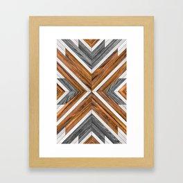 Urban Tribal Pattern 4 - Wood Framed Art Print