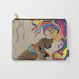 """Fall in Lust"" Paulette Lust's Original, Contemporary, Whimsical, Colorful Art  Carry-All Pouch"
