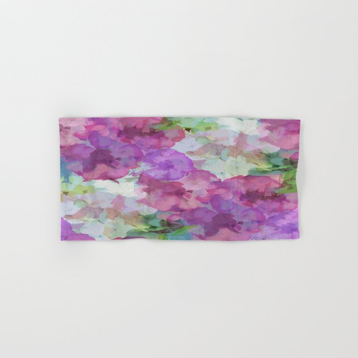 Sweet Peas Floral Abstract Hand & Bath Towel