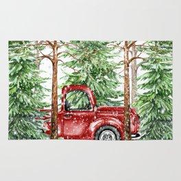 Woodland Snow Rug