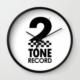 2 TONE RECORD Wall Clock