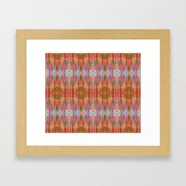 Muticolored Shibori Tie Dye Framed Art Print